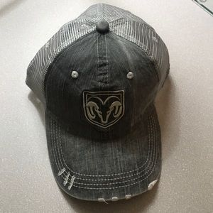 Dodge Ram distressed velcro hat NEW